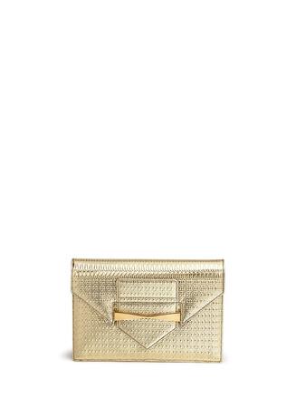 'Legend' textured mirror leather envelope clutch