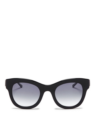 'Leggy' metal temple cat eye sunglasses
