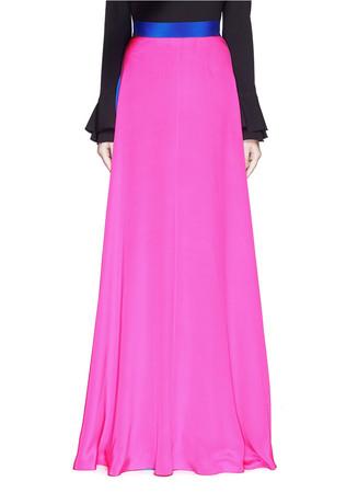 'Leighton' silk crepe skirt