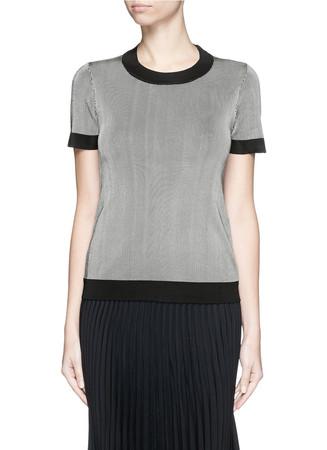 'Leila' stripe jersey knit top