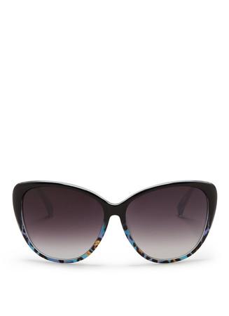 Leopard oversized sunglasses