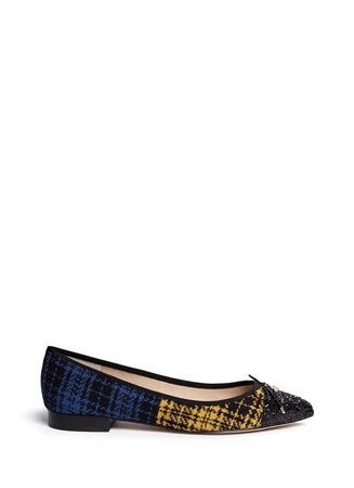 'Lilly' plaid check flannel flats