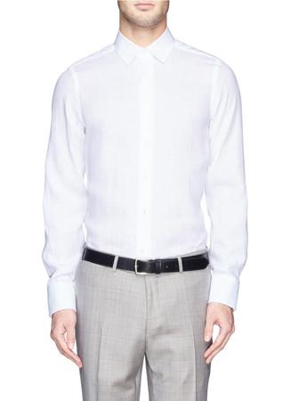 Linen broadcloth shirt