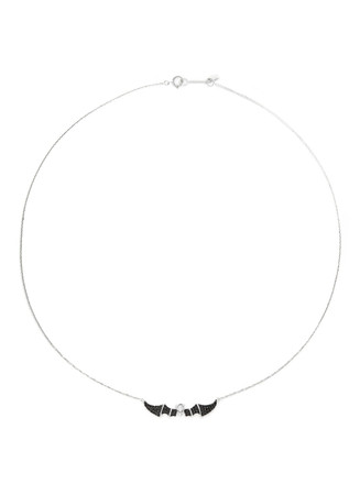 'Little Bat' 18k gold diamond necklace