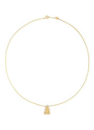 'Little Buddha' 18k gold diamond necklace
