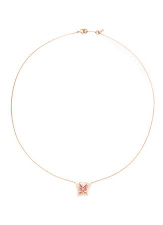 'Little Butterfly' 18k gold diamond necklace