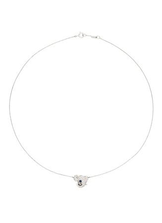 'Little Elephant' 18k gold diamond necklace