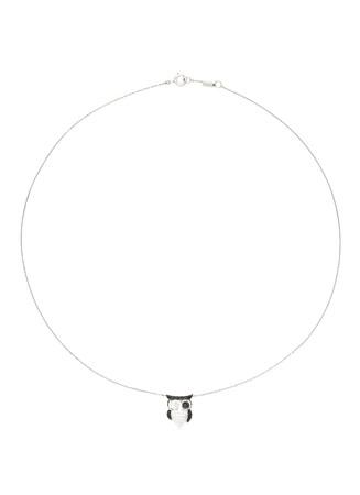 'Little Owl' 18k gold diamond necklace