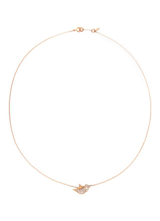 'Little Teapot' 18k gold diamond necklace
