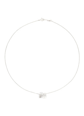 'Little Train' 18k gold diamond pearl necklace