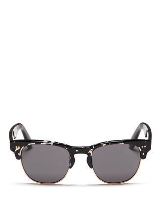 'Lobamba' tortoiseshell effect acetate browline sunglasses