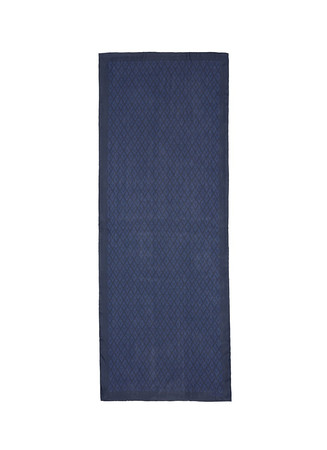 Logo print silk gauze scarf