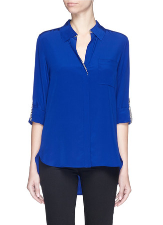 'Lorelei Two' silk georgette blouse
