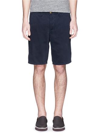 Low rise cotton shorts