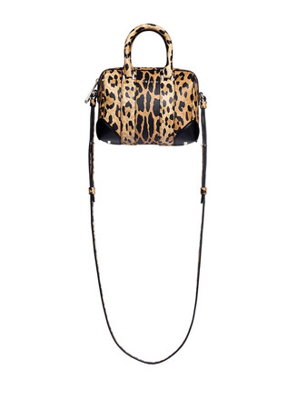 'Lucrezia' micro leopard print leather bag