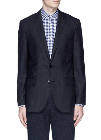 'Ludlow' suit jacket with double vent in Italian wool