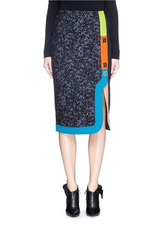 'Ludo' pinball stripe tweed bouclé skirt