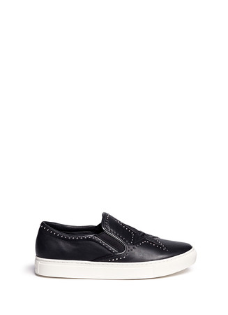 'Lynx' stud star leather skate slip-ons