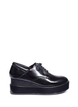 'Madness' platform wedge leather Derbies