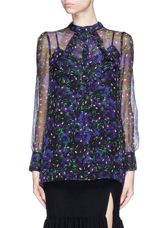 'Magdelene' faye night print silk blouse
