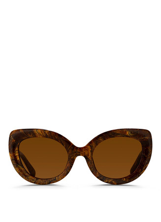 Marbled acetate cat eye sunglasses