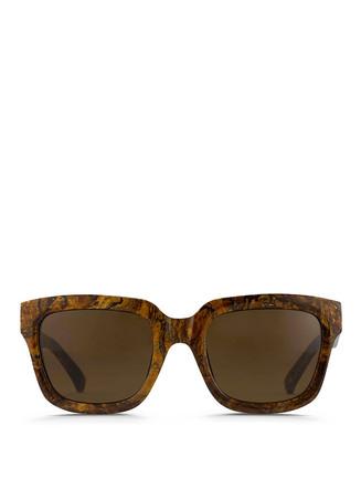Marbled acetate square sunglasses