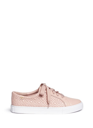 'Marion' quilted leather sneakers