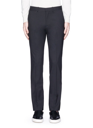 'Marlo' straight leg stretch wool pants