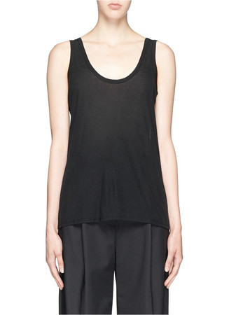 'Mastontho' cashmere jersey tank top