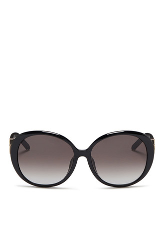 Matte colourblock temple acetate sunglasses