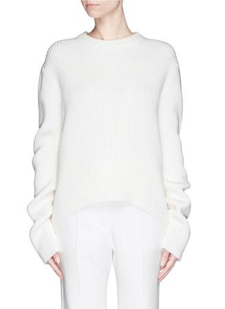 'Meme' extra long sleeve wool sweater