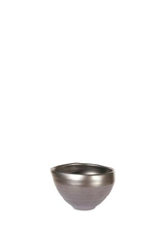Metallic ceramic bowl