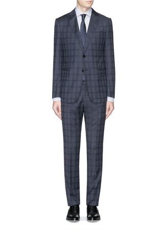 'Metropolitan' wool gabardine suit