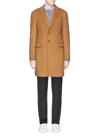 'Metropolitan' wool-cashmere Melton coat