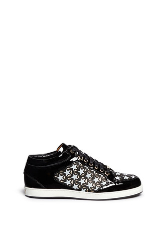 'Miami' star perforated patent leather sneakers
