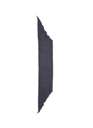 Microprint silk chiffon trapezoid scarf