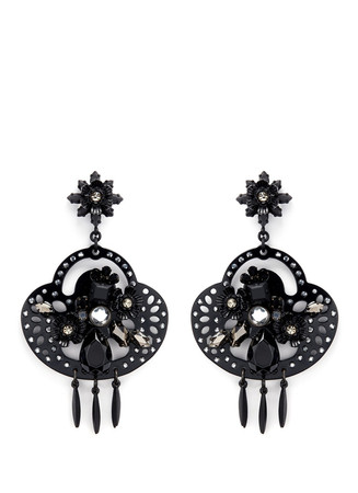 Midnight crystal chandelier earrings