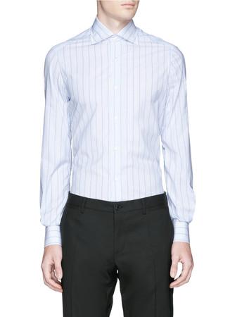 'Milano' candy stripe poplin shirt