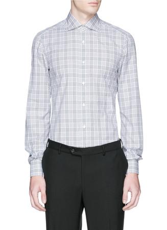 'Milano' check cotton poplin shirt