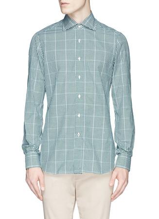 'Milano' micro gingham check shirt