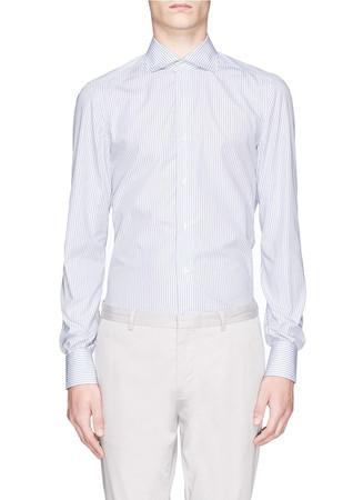 'Milano' stripe cotton poplin shirt