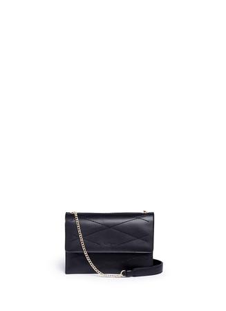 'Mini Sugar' calfskin leather flap bag