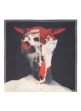 Minotaur print cotton-modal scarf