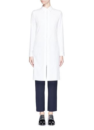 'Mira' zip cotton poplin shirt dress