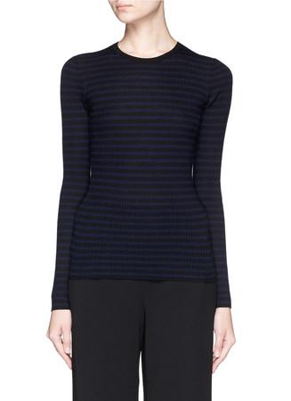'Mirzi S' stripe Merino wool sweater