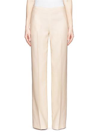 'Misa' wool-silk wide leg pants