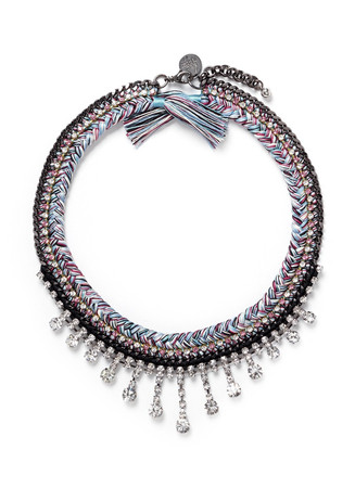 'Miss Mayhem' rhinestone necklace