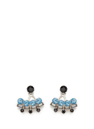 'Modern Deco' Swarovski crystal earrings