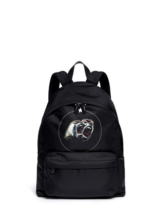 'Monkey Brothers' nylon backpack