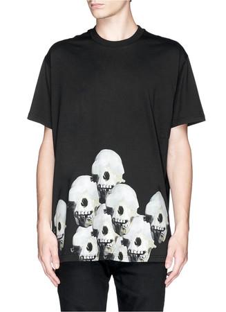 Monkey skull print T-shirt